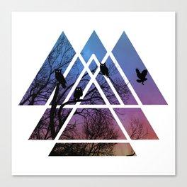 Night Wisdom - Sacred Geometry Triangels Canvas Print