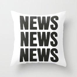 News News News Throw Pillow