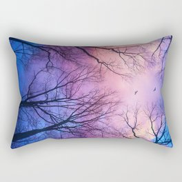 A New Day Will Dawn  (Day Tree Silhouettes) Rectangular Pillow