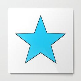 Bright Blue Star Metal Print