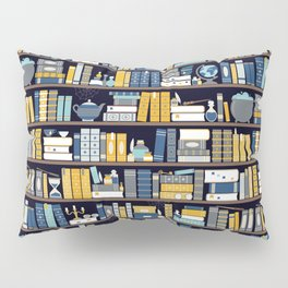 Book Case Pattern - Blue Yellow Pillow Sham