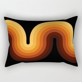 Retro Wave II Rectangular Pillow