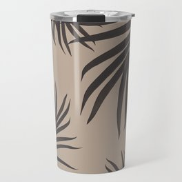 Palm Leaves Pattern Sepia Vibes #1 #tropical #decor #art #society6 Travel Mug