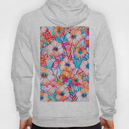 Stained Glass Poppies Hoody