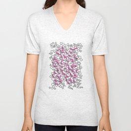 Oddgon and Angular Cluster in Pink Unisex V-Neck
