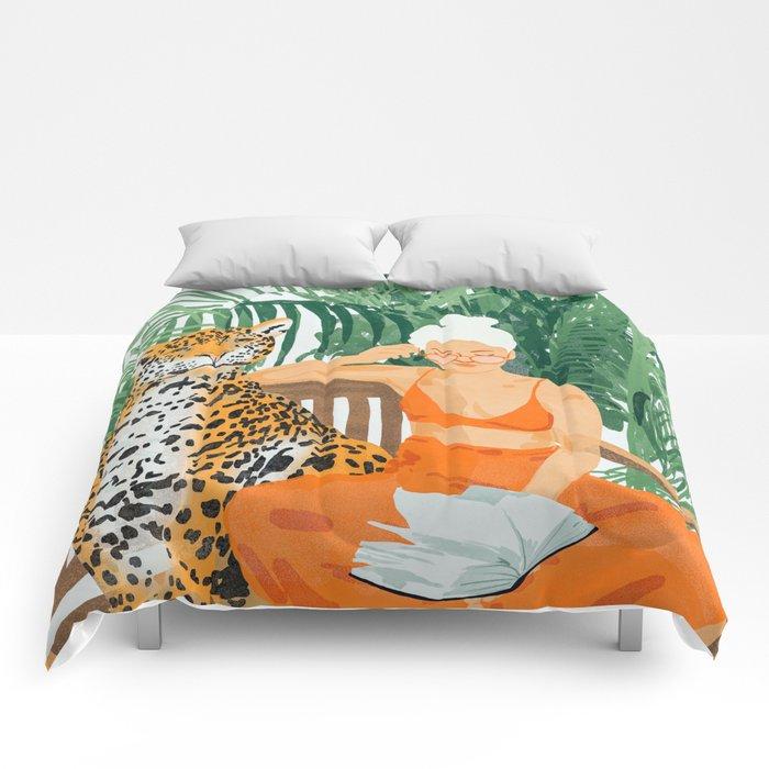 Jungle Vacay #painting #illustration Comforters