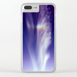 Feather in the Sky Clear iPhone Case