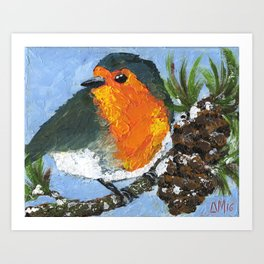 Redbreast Robin No.1 Art Print