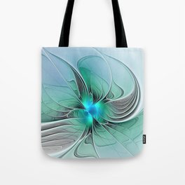 Abstract With Blue 2, Fractal Art Tote Bag