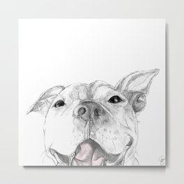 Whaddup :: A Pit Bull Smile Metal Print