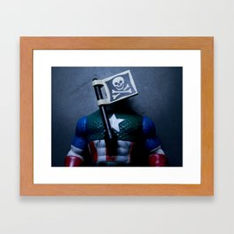 Captain America in Trouble 4 Framed Art Print