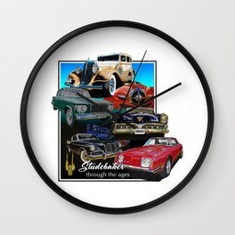 Studebaker Through the Ages Wall Clock
