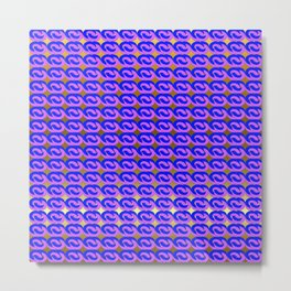 Modius Loop Blue/Lavender on Gold Metal Print