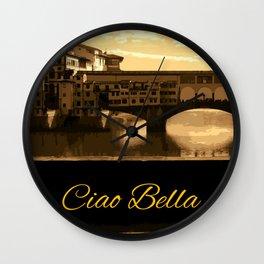 Italy Ciao Bella Wall Clock