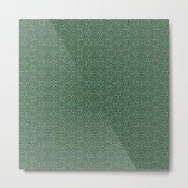 Green stars Metal Print