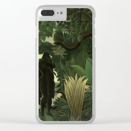 "Henri Rousseau ""The Snake Charmer"", 1907 Clear iPhone Case"