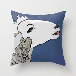Flirty Sheep Throw Pillow