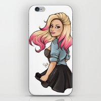 laia iPhone & iPod Skins featuring Demi Lovato by Laia™