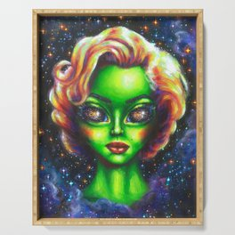 Iconic Alien Women: Marilyn Serving Tray
