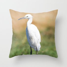 Fishing bird Throw Pillow