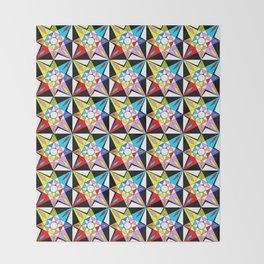 symetric patterns 81-mandala,geometric,rosace,harmony,star,symmetry Throw Blanket