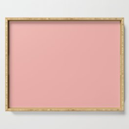 Pratt and Lambert 2019 Coral Pink 2-6 (Pastel Pink) Solid Color Serving Tray