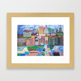 Panoramic view of London Framed Art Print
