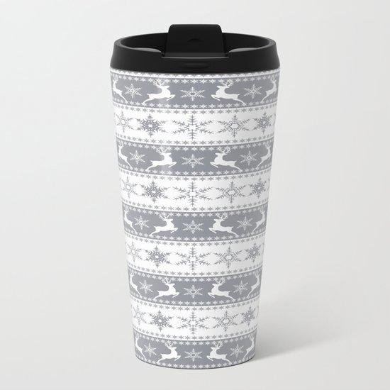 Christmas pattern . Metal Travel Mug