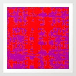 jitter, red violet, 3 Art Print