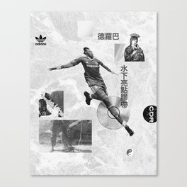 Didier Drogba Underwater Highlight Tape DVD-RW Canvas Print