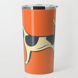 Orange Beagle Travel Mug