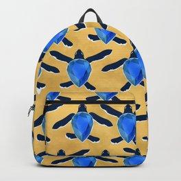 Leatherback sea turtle - Blue sapphire Backpack
