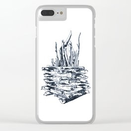 Bonfire Clear iPhone Case