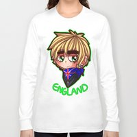 england Long Sleeve T-shirts featuring England by Kurfluffle
