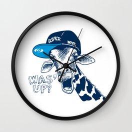 Was'up Giraffe Wall Clock
