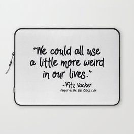 Fan-favorite Fitz Quote Laptop Sleeve