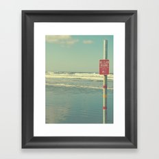 No Clam Digging Framed Art Print