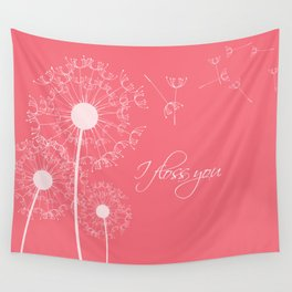 I floss you (pink) Wall Tapestry