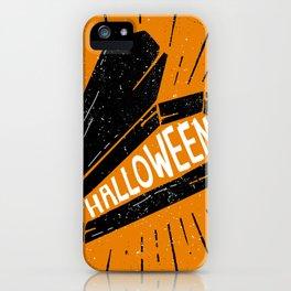 Halloween Coffin (Orange) iPhone Case