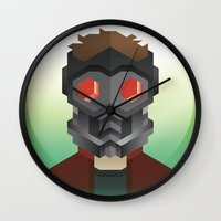 starlord Wall Clocks featuring Guardians of the Galaxy - Star-Lord by Casa del Kables