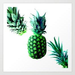 Malibu Pineapple | Anana Exotic Art Print