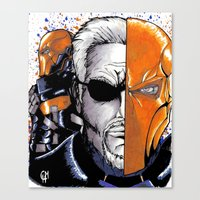 deathstroke Canvas Prints featuring Deathstroke the Terminator by artbyCurt.
