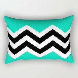 TEAL COLORBLOCK CHEVRON Rectangular Pillow