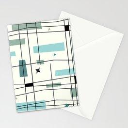 Mid Century Art Bauhaus Style Stationery Cards