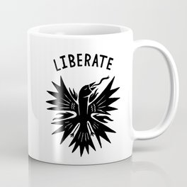 phoenix liberate crest x typography Coffee Mug