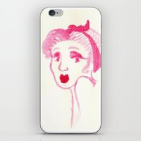 rockabilly iPhone & iPod Skins featuring Rockabilly Pink by Ajhasse