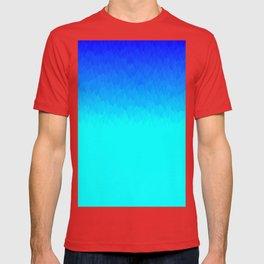 Blue ombre flames T-shirt