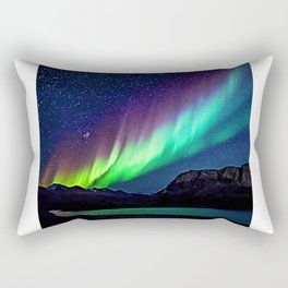 A Spectacle Of Polar Lights | Oil Painting Rectangular Pillow