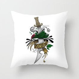 Symbolic Sword Throw Pillow