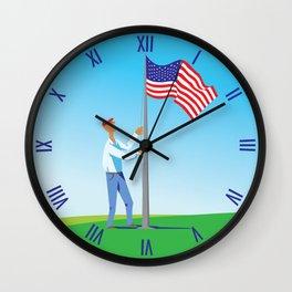 Stars & Stripes Wall Clock